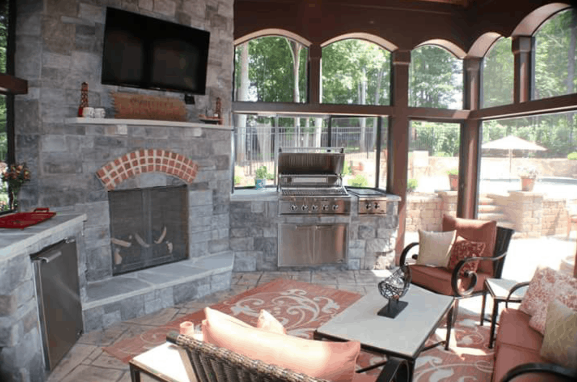 picture htm fireplace screened your with porch warm how in winter keep to