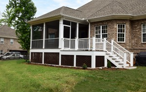A screened porch project in the Twin Oaks area of Troutman, NC.