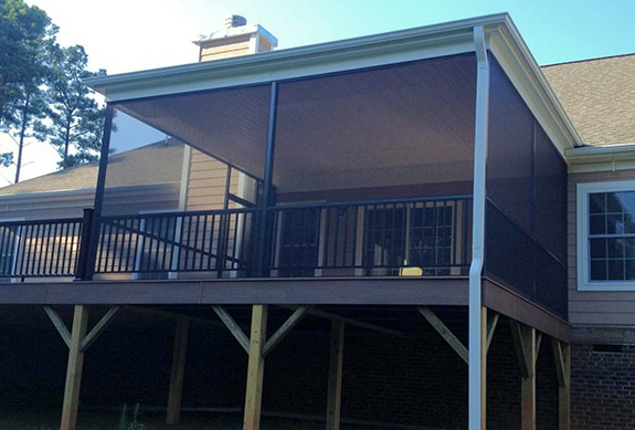 Huntersville Construction Contractor for New Screen Porch
