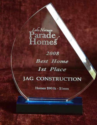 Award JAG Construction New Home Contractor Parade of Homes