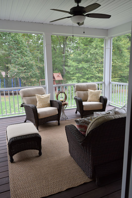 Davidson Nc Screen Porch And Grilling Deck Lake Norman