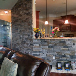 Living Room Stone Wall - JAG Construction