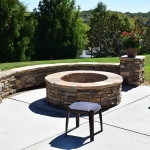 Charlotte, NC Patio with Stone Fire Pit