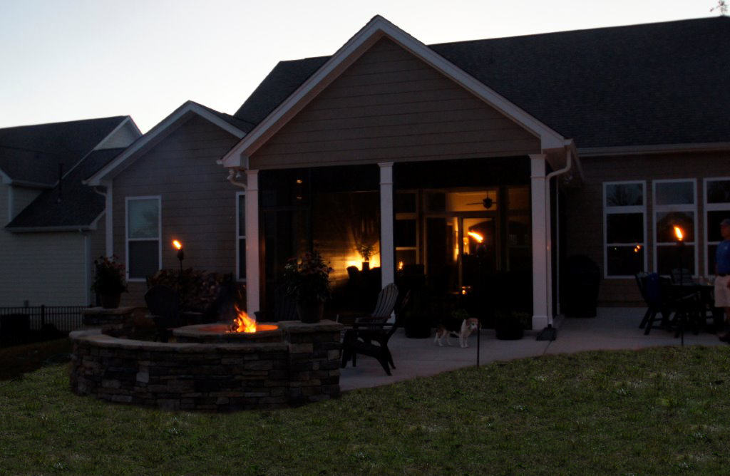 Charlotte Screen Porch Amp Patio With Stone Fire Pit Lake