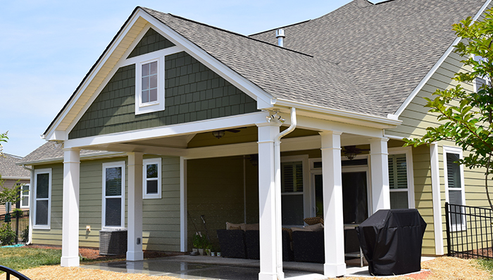 Covered Porch by Outdoor Remodeling Contractor in Charlotte