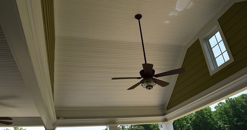 Covered Porch in Charlotte with fan