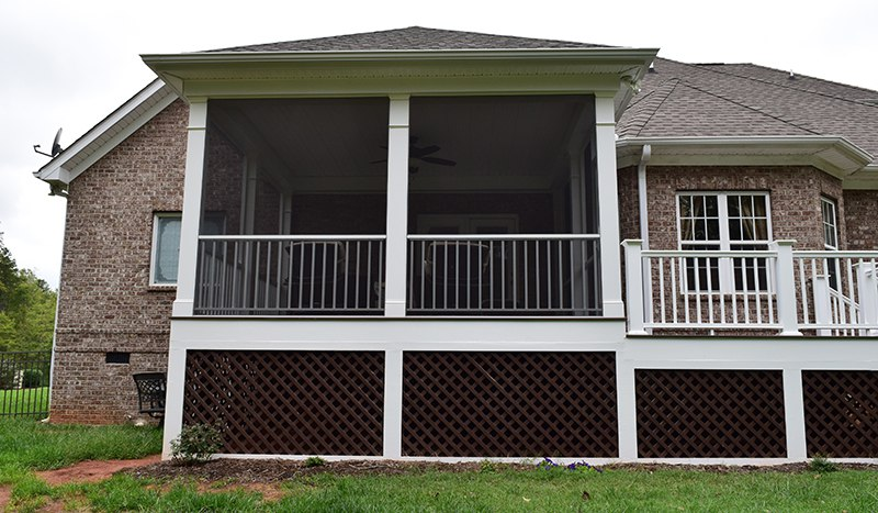 his screen porch was done in Davidson