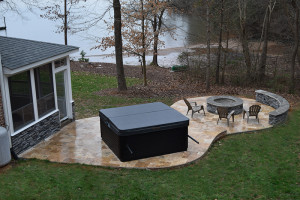 JAG Construction Mooresville 3 Seasons Room, Patio, Fire Pit, Hot Tub Lake Norman