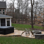 JAG Construction Mooresville 3 Seasons Room, Hot Tub, Fire Pit Area, Patio in LKN