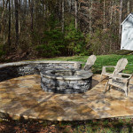 JAG Construction Mooresville Fire Pit, Patio Area