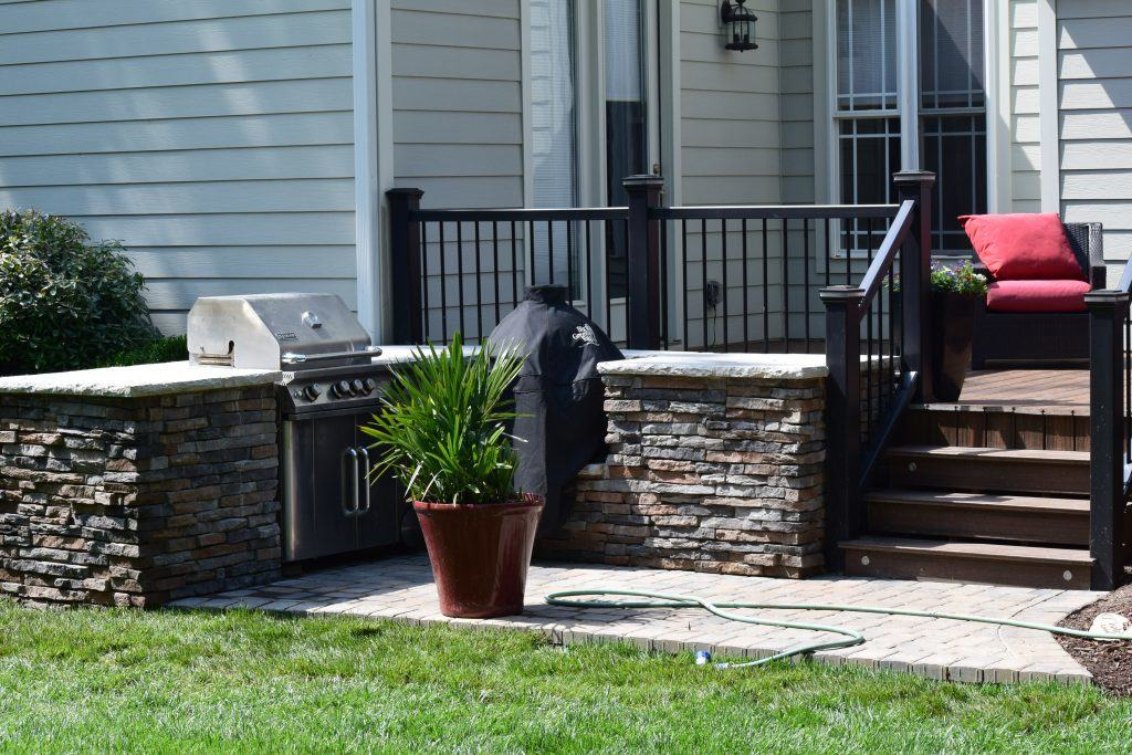 New Patio with Grill by Mooresville Remodeling Contractor