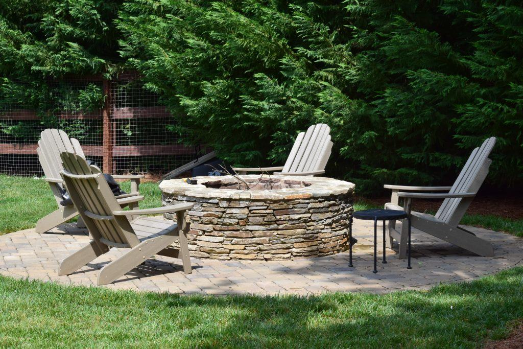 New Fire Pit by Mooresville Remodeling Contractor