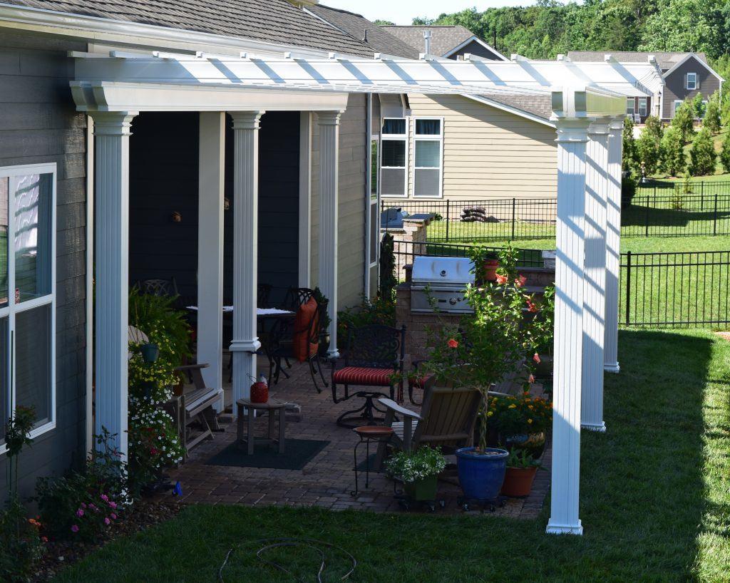 Charlotte Contractor installs New Pergolas