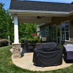 Backyard Transformation with a Covered Porch in Cornelius, NC