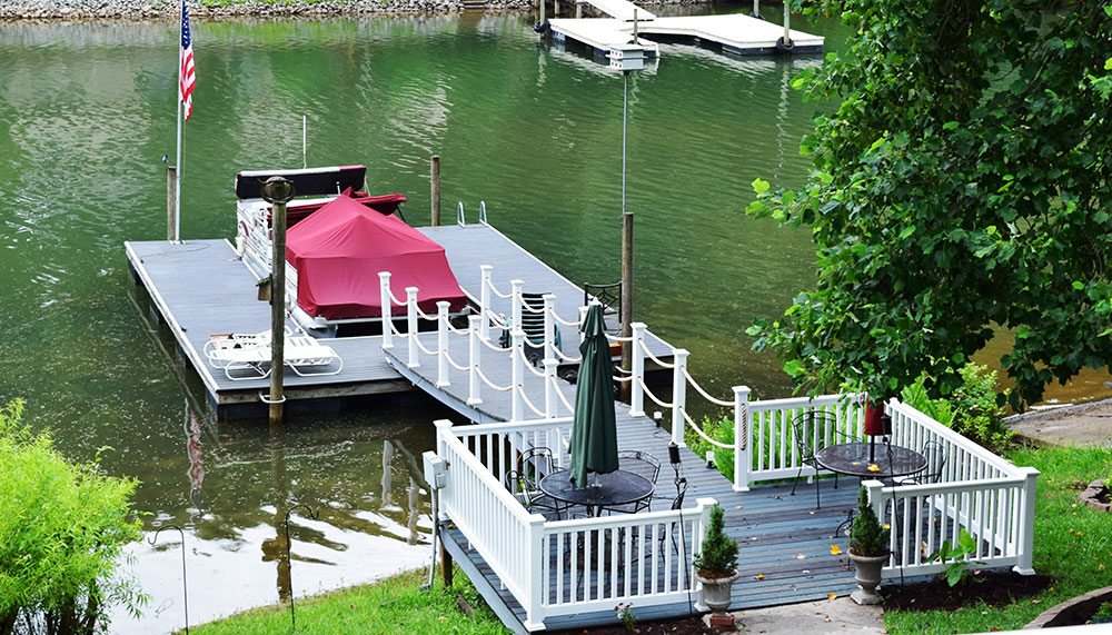 Deck for boat by Contractor in Mooresville Lake Norman area