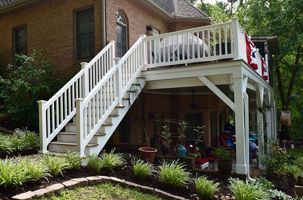 Staircase for Deck by Contractor in Mooresville Lake Norman area