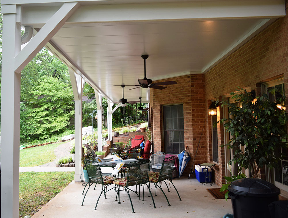 Porch under Deck by Contractor in Mooresville Lake Norman area
