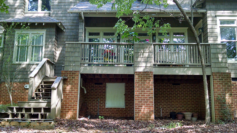 Before Image of JAG Construction Screen Porch Project
