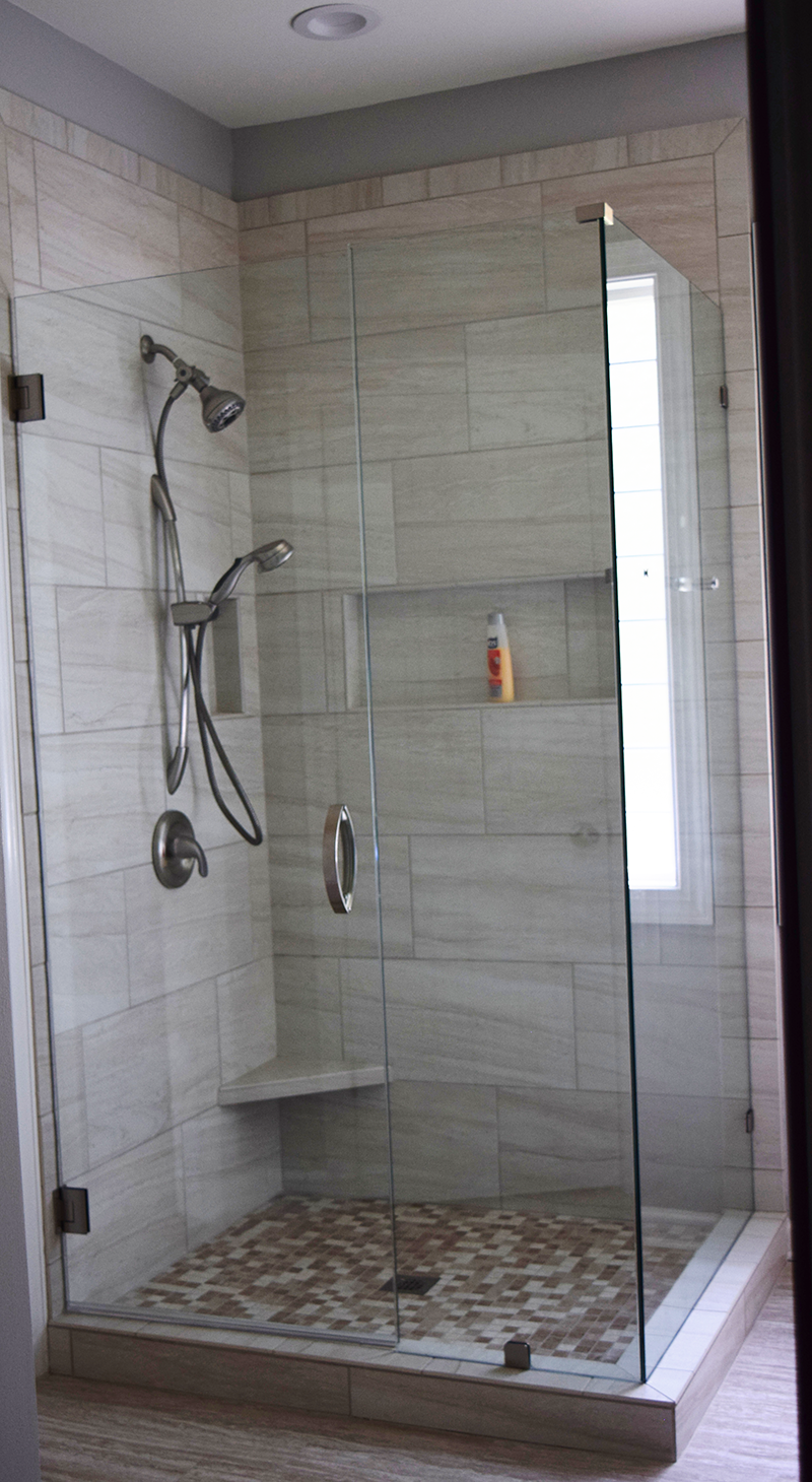 Charlotte Bathroom Remodeling Contractor installs shower
