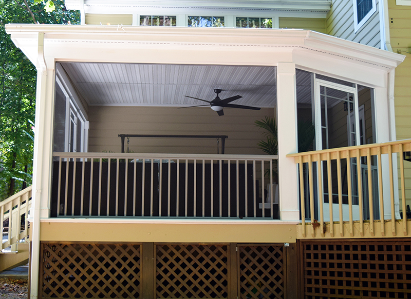 JAG Construction Screen Porch in Mooresville, NC