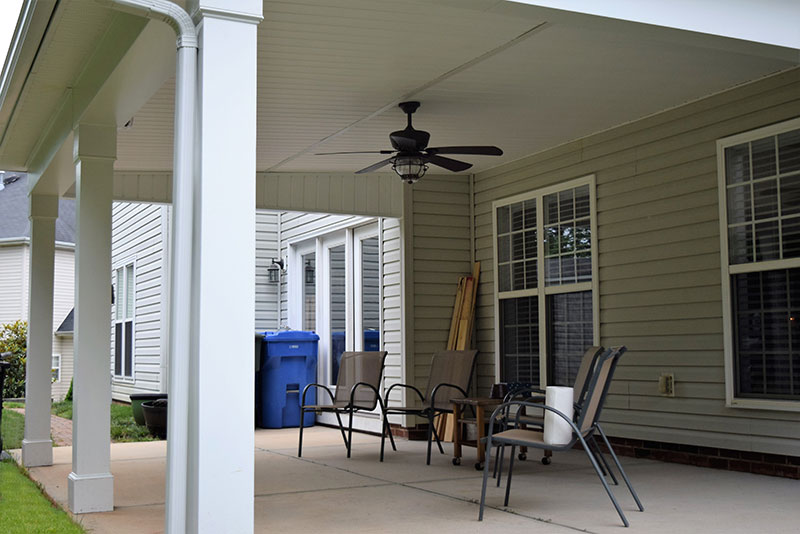 Covered Porch in Mooresville from JAG Construction