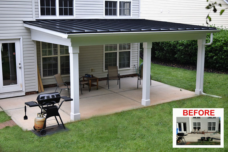Latest news lake norman mooresville area screen porch for Shed roof covered porch