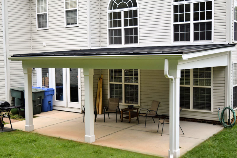 Shed Roof Covered Porch, Mooresville NC