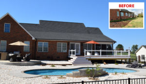 Before and After JAG Construction in Denver, NC - Outdoor Living Space