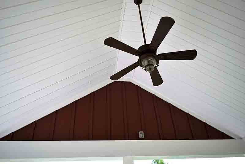 Covered Porch Ceiling - JAG Construction
