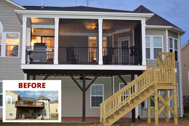 Screen Porch Transformation in Huntersville, NC