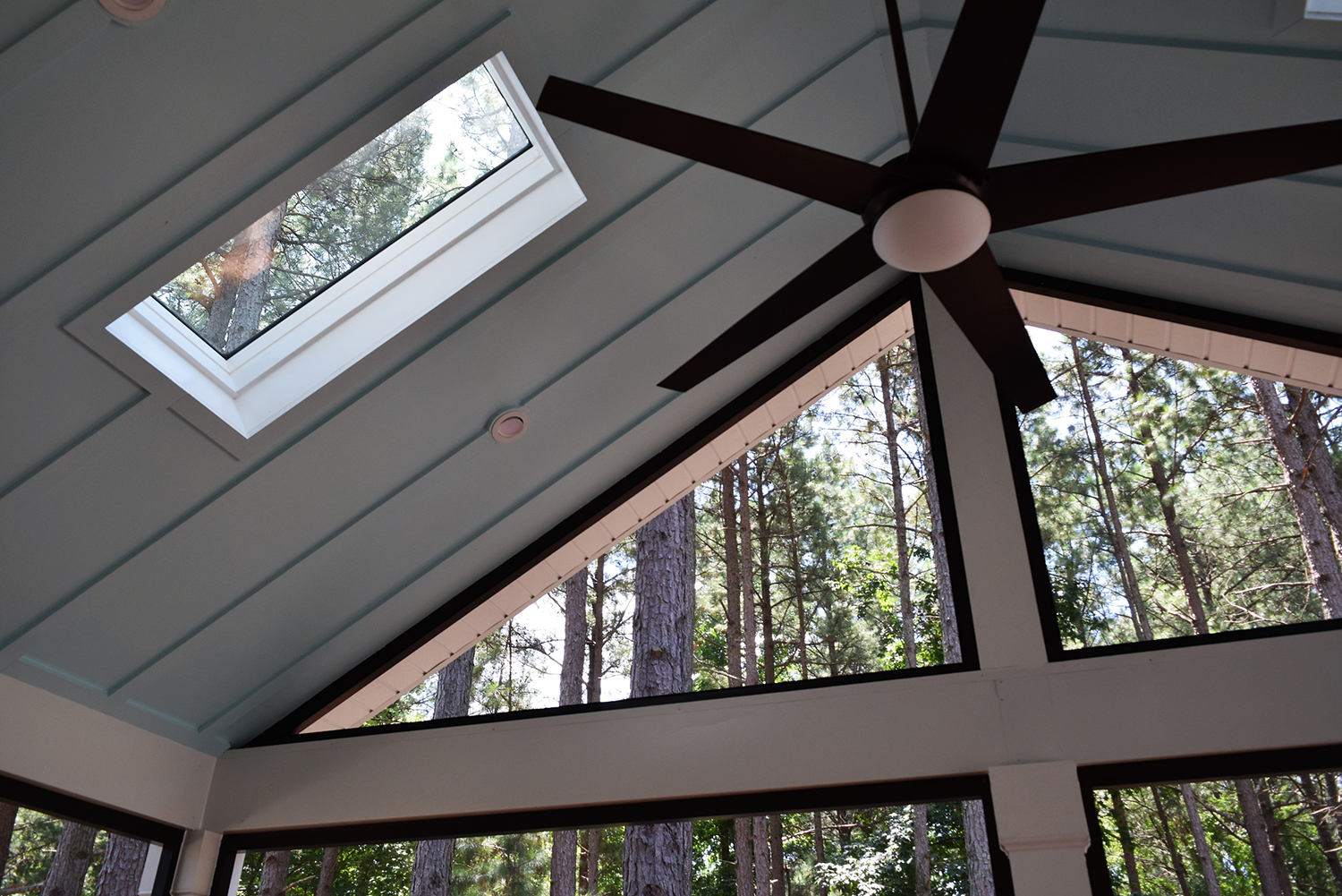 JAG Construction Screen Porch Skylight Ceiling