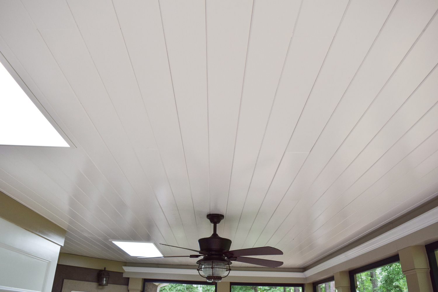 Screen Porch Interior, Ceiling, Denver NC