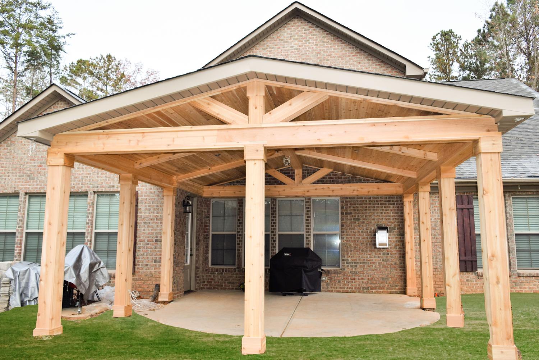 Roof Design Ideas: Denver, NC Cedar Covered Porch