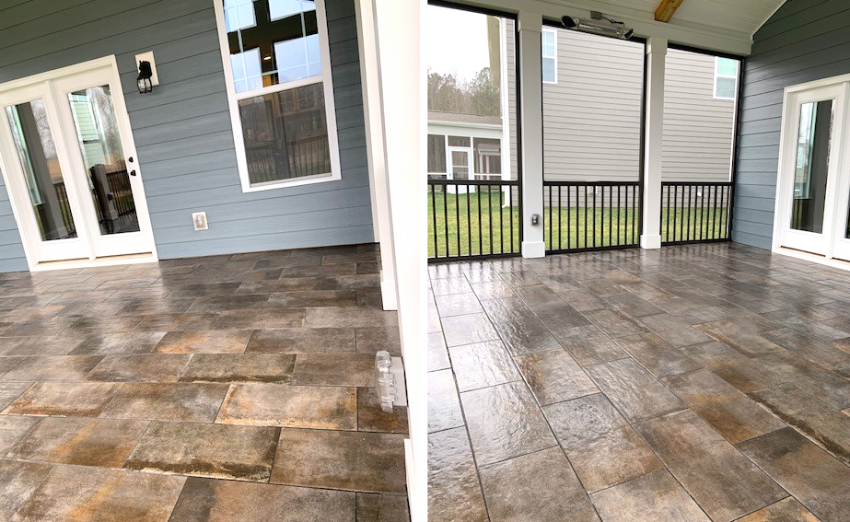 Screen Porch Tile Flooring in Mooresville, NC