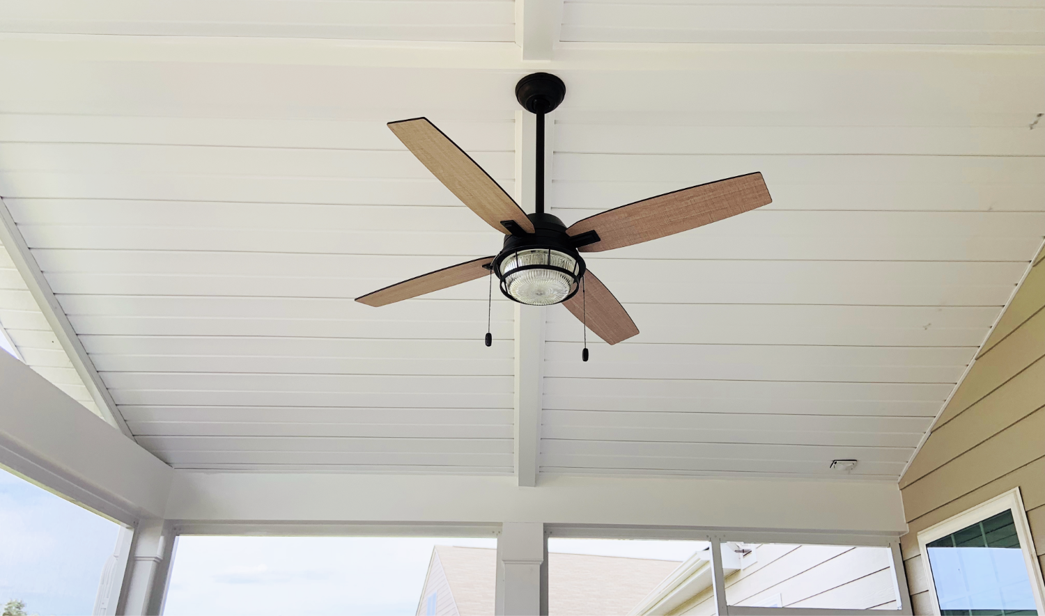 Screen Porch Ceiling with Fan