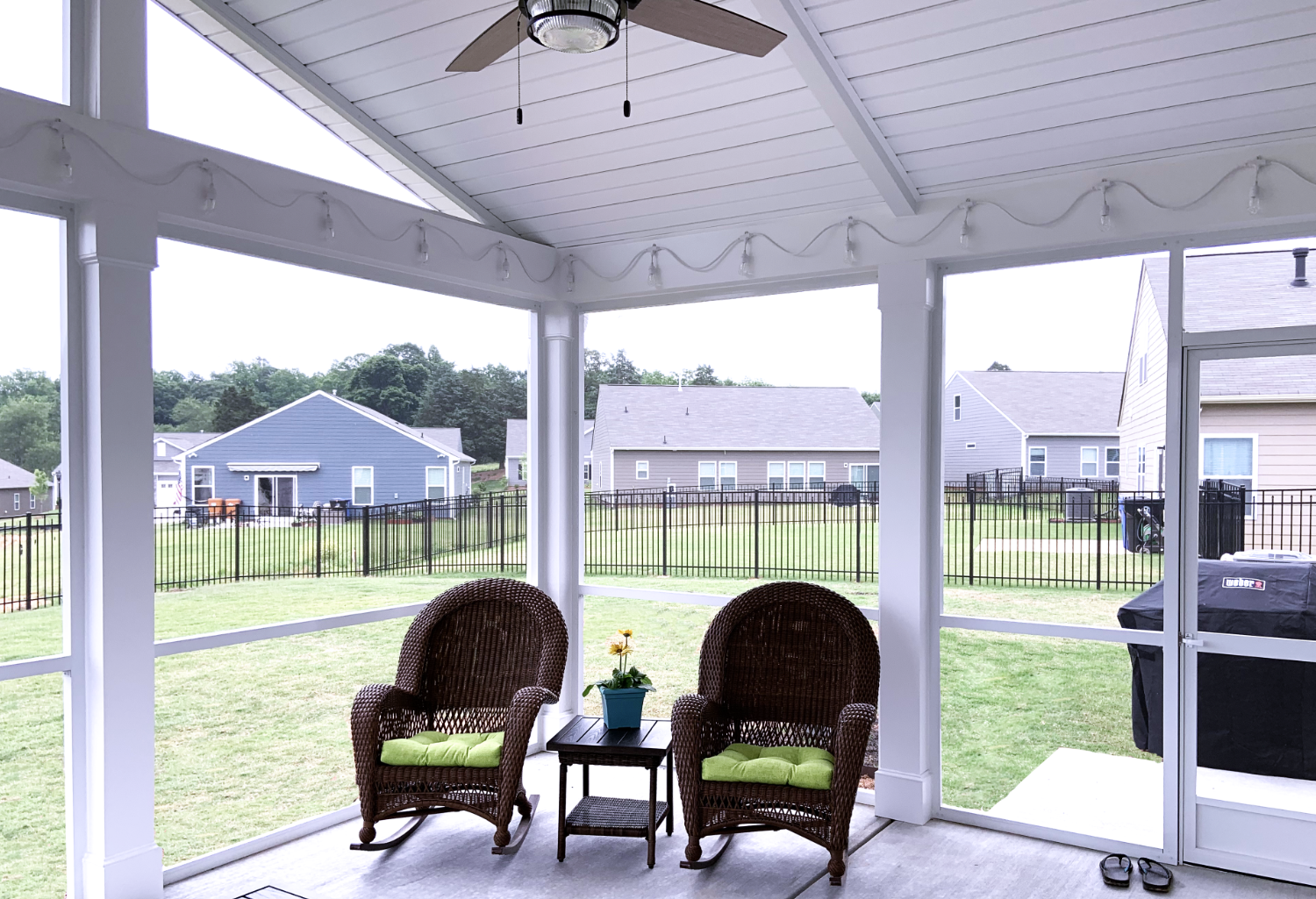 Interior, Screen Porch in Mooresville