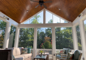 3 Season Porch T and G Ceiling with EZE Breeze Windows