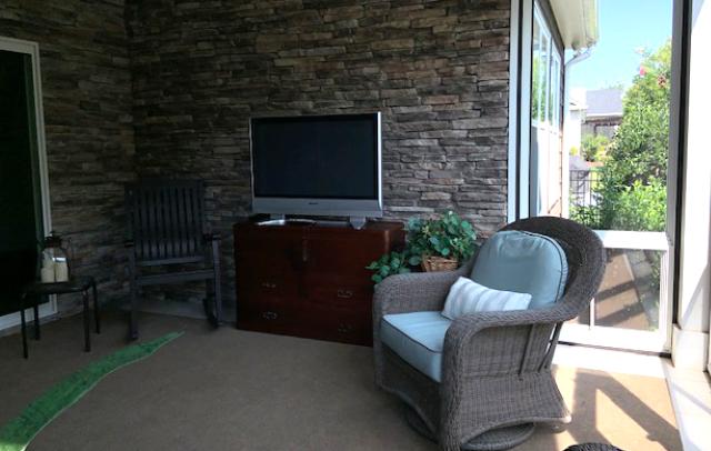 Interior, screen porch, JAG Construction