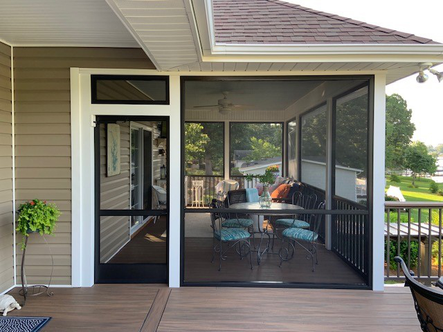 Exterior Screen Porch, Re Screen
