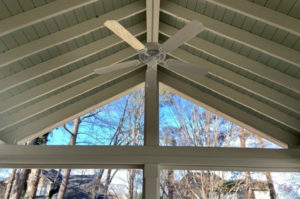 Screen Porch Ceiling with Fan, JAG Construction