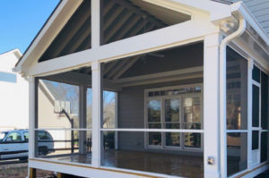 Exterior Screen Porch, Front, Huntersville, NC