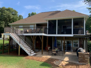 Screen Porch, Pergola, Grilling Station and Stamped Concrete Patio in Terrell, NC