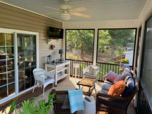 Terrell NC Screen Porch Interior