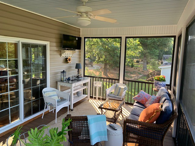 Terrell NC Screen Porch Interior