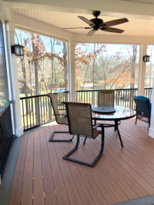 Screen Porch Build on Lake Norman, NC