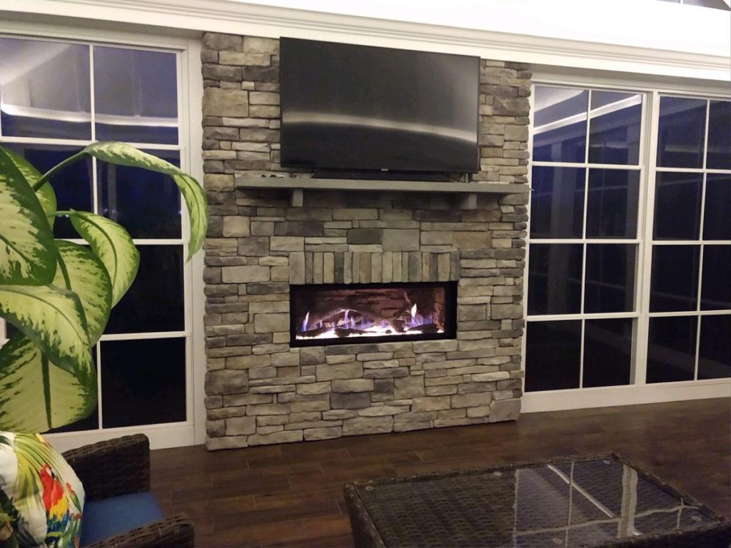 4 Season Porch, Brick Fireplace, Cornelius NC
