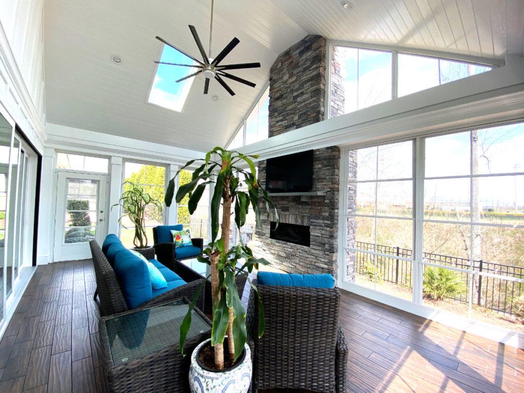 Interior, 4 Season Porch, Sunroom, Cornelius NC