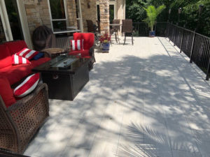 Troutman, NC Tile Deck by JAG Construction