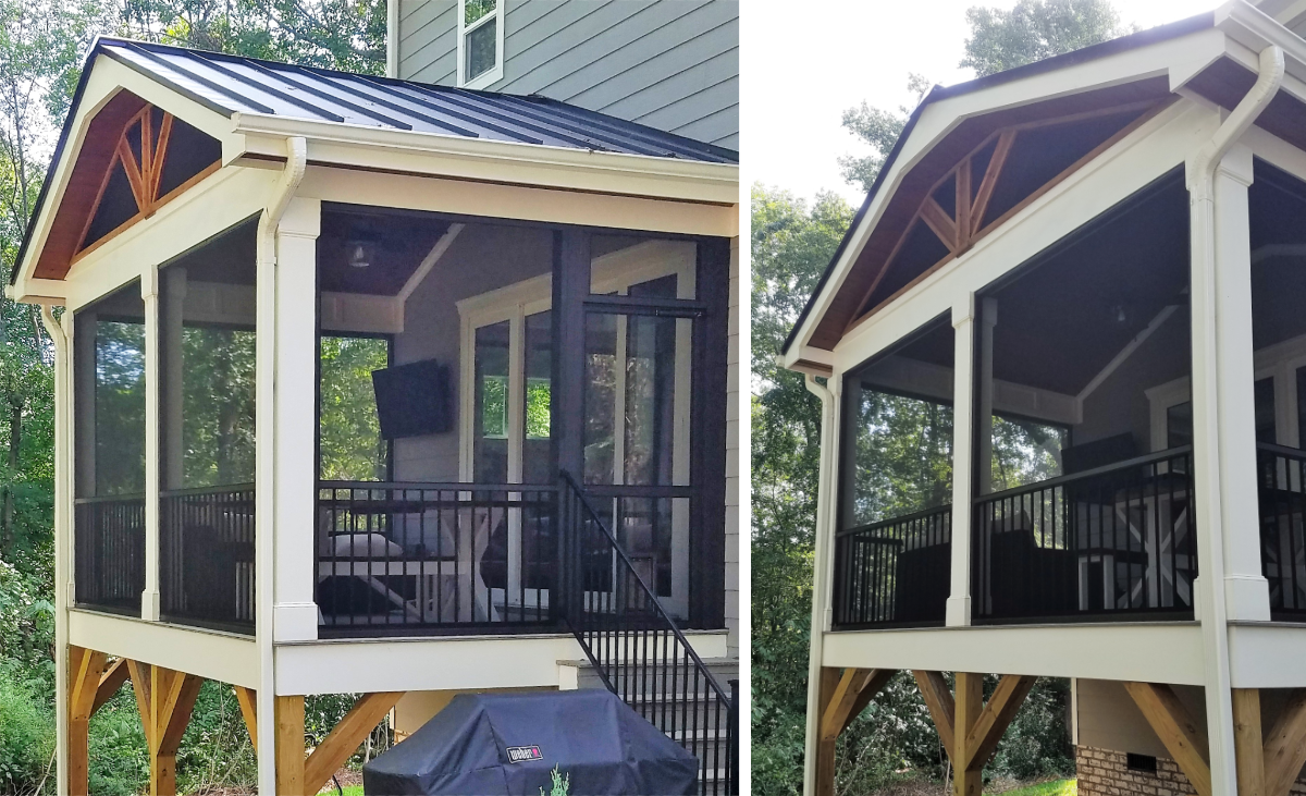 Huntersville Screened Porch with Vaulted Ceiling