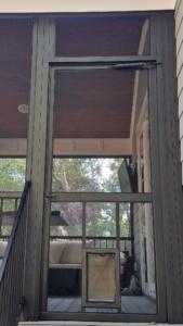 Screen Porch Door with Included Doggy Door